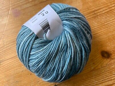 £3.75 • Buy Debbie Bliss Ecobaby Prints Organic Cotton Yarn Shade 56010/20 Teal And Green Mi