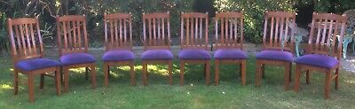 AU80 • Buy Set Of 8 Solid Timber Dining Chairs