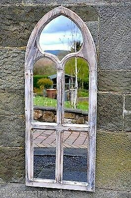 £74.99 • Buy Garden Or Indoors Wooden Mirror In A Gothic Style.  St Peters. Limed, Aged