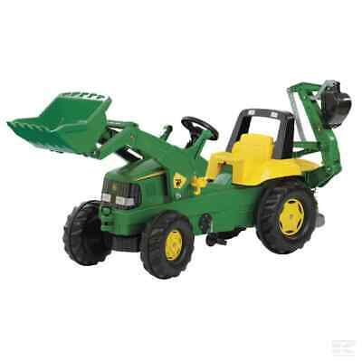 £218.88 • Buy Rolly Toys John Deere Childrens Pedal Tractor With Loader & Backhoe Kids Toy