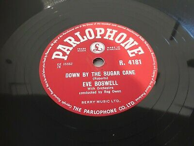 £3.40 • Buy Eve Boswell Down By The Sugar Cane 10 Inch 78 Record Can Do International