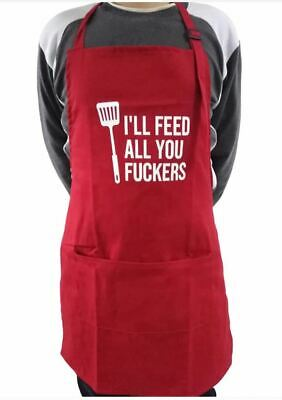 $19.99 • Buy AUPERTO Chef Apron For Men Women Cooking Kitchen BBQ Grill With Pockets