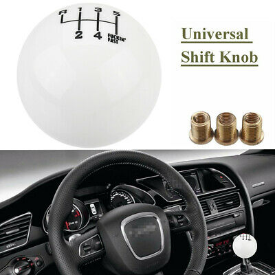 AU17.99 • Buy 6 Speed Manual Black Round Ball Gear Shift Knob Lever Reverse Left Up Universal