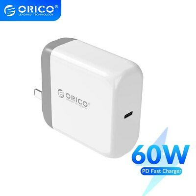 $24.99 • Buy ORICO 60W PD Quick Charge USB QC Type-C PD Charger For IPhone Huawei IPad Mac