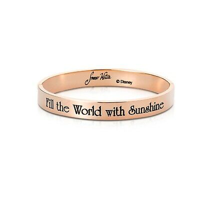 £25 • Buy Disney Couture Kingdom Princess Rose Gold-Plated Snow White Message Bangle