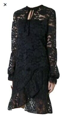 AU120 • Buy Scanlan Theodore Black Lace Wrap Skirt, And Matching Top