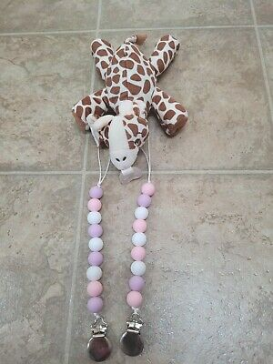 AU16.57 • Buy NWOT Philips Avent Soothie Pacifier Holder Giraffe Beaded Pacifier Clips