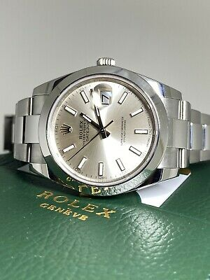 AU11650 • Buy Rolex DateJust 41 Ref 126300 41mm S/Steel Mens' Watch. C2019. Box Warranty Card.