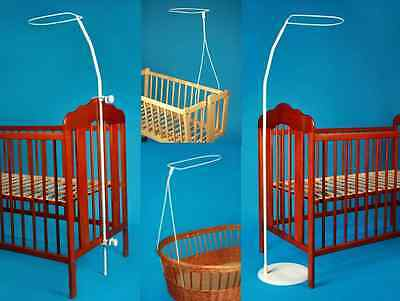 £8.99 • Buy Holder For Baby Cot Drape Canopy Mosquito Rod Bar Clamp Pole Moses Basket