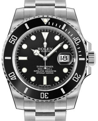 $ CDN18197.26 • Buy Rolex Submariner Date 40mm Steel Ceramic Mens Watch Box/Papers NEW 2018 116610