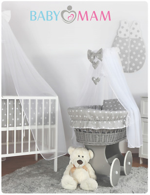 £69.99 • Buy Baby Bedding Set To Fit Moses Basket Wicker Crib Pillow Duvet