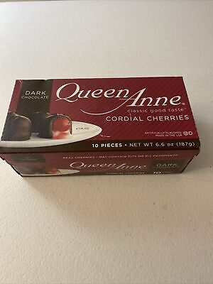 $9.50 • Buy Queen Anne Cordial Cherries • Dark Chocolate-Covered • 10 Pieces Exp 01/2022