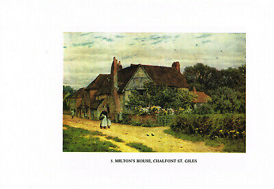 £2.99 • Buy Milton's House Chalfont St Giles Print Old Picture Helen Allingham 1985 THEO#05