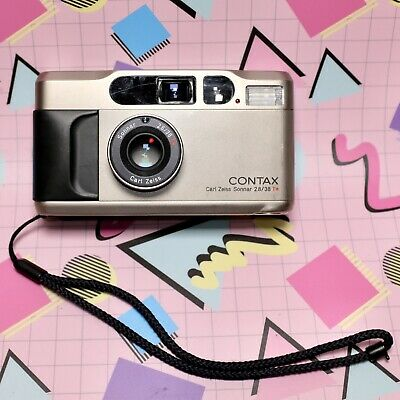 $ CDN1704.58 • Buy CONTAX T2 35mm Film Camera With 38mm Zeiss T* Sonnar F/2.8 Lens Lomo