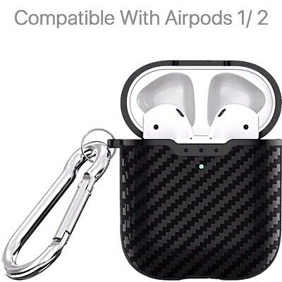 AU2.20 • Buy Protective Carbon Fibre Apple Airpod Case - TPU Cover Anti Lost Skin For Airpods
