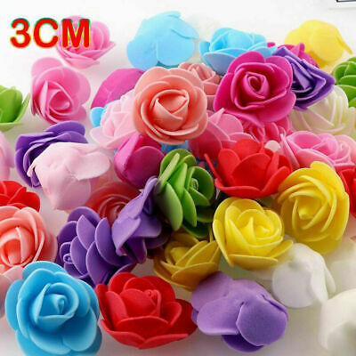 £3.99 • Buy 500 Foam Mini Roses WHOLESALE Heads Buds Small Flowers Wedding Home Partys UK