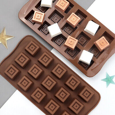 £2.89 • Buy Silicone Square Candy Soap Chocolate Mould Cake Wax Melt Icing Mold DIY 15 Cells
