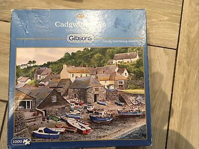 £1.30 • Buy Gibsons 1000 Piece Jigsaw Puzzle. Cadgwith Cove. Complete