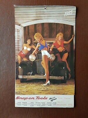 £24.99 • Buy Snap On Tools  1985 Glamour Calendar - Rare Collectable.