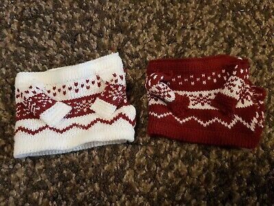£5 • Buy His & Hers Xmas Hot Chocolate Knitted Mug Junpers Red & White