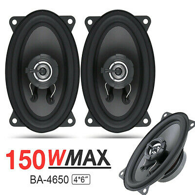 AU57.86 • Buy High Quality 4' X 6' Inch 3-Way 150W Car Audio Bass Coaxial Speakers Stereo Pair