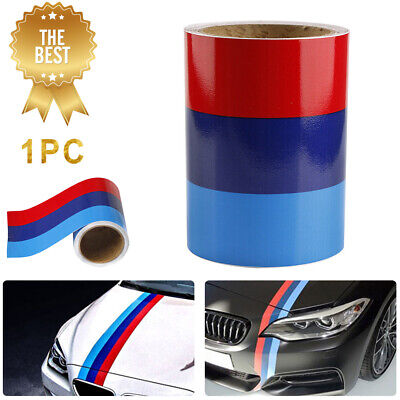 $7.79 • Buy 5FT M-Colored Sticker Car Body Stripe Decal Sticker Decoration For BMW M3 M4 M5