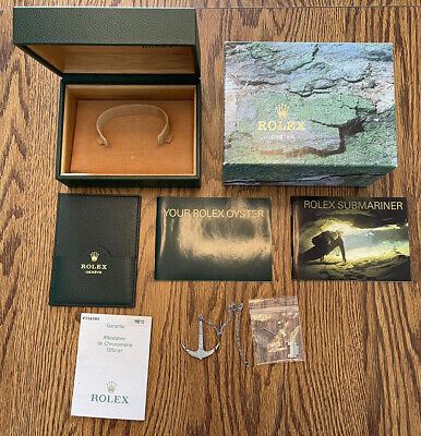 $ CDN339.68 • Buy GENUINE AUTHENTIC ROLEX SUBMARINER Box And Accessory Set W/ Punched Paper