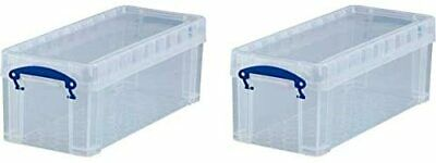 £25.10 • Buy Really Useful 6.5 Litre Twin Pk - CD DVD Clear Storage 430 X 180 X 160 Mm