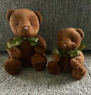 Harrods Teddy Bears Brown Vintage X 2 Birthday Collector Gift • 34.99£