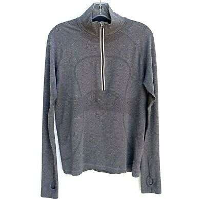 $ CDN60.60 • Buy LULULEMON Women's SWIFTLY 1/2 ZIP Long Sleeve Top Heathered Black/Gray Sz.12