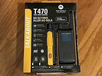 £60.11 • Buy Motorola Talkabout T470 Two-Way Radio, 35 Mile, 2 Pack, Black & Yellow, New FS!