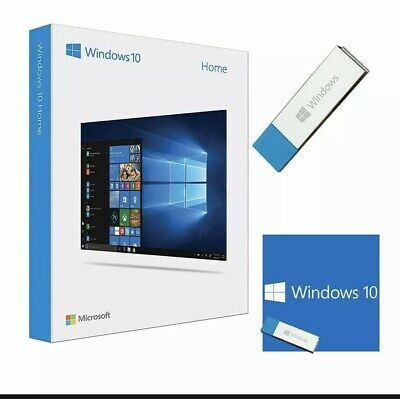 $ CDN54.41 • Buy Windows 10 Home X64 Bit USB Flash Drive Product Activation Key - Free Shipping