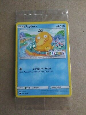 $40 • Buy Pokemon - Psyduck Build A Bear Exclusive Card - Sealed 2017