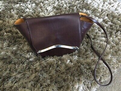 £12.99 • Buy Leather With Suede Inner Coffee Autograph M&S Crossbody Bag  RRP 89.00 NEW