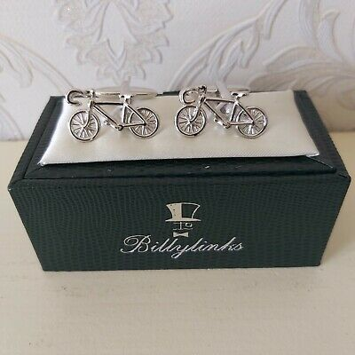 £8.50 • Buy Cufflinks Bicycle Racing Bike Billylinks By Orchid Design CB521
