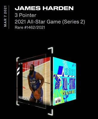 $320 • Buy JAMES HARDEN ALL-STAR NBA Top Shot Series 2 NFT Dunk Rare # 1462/2021 LE
