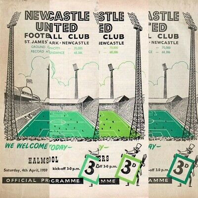 £2.99 • Buy 1958-59 NEWCASTLE UNITED HOME PROGRAMMES - Your Choice - FREE Postage