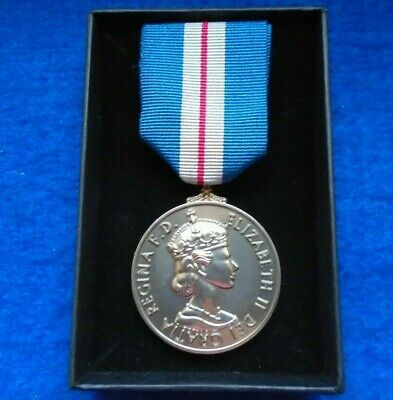 £18 • Buy Queens Gallantry Medal Full Size Reproduction Medal & Ribbon & Presentation Box