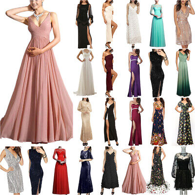 £30.09 • Buy Womens Maxi Long Dress Cocktail Evening Party Wedding Bridesmaid Gown Ball Prom