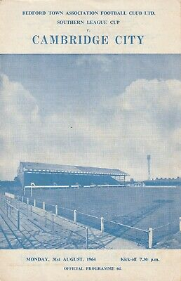 £3 • Buy Bedford Town V Cambridge City, 31 August 1964, Southern League Cup
