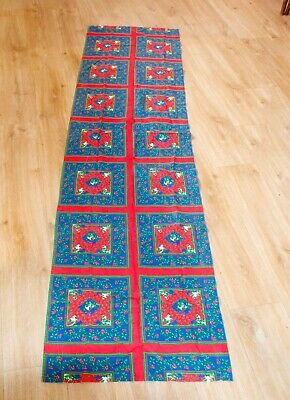 $ CDN17.04 • Buy Vintage Christmas Printed Cotton Tablecloth Runner 240cm X 60cm Retro 1970's