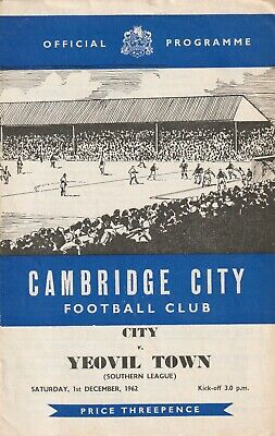 £4 • Buy Cambridge City V Yeovil Town, 1 December 1962, Southern League