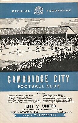 £3 • Buy Cambridge City V Cambridge United, 1 October 1963, Southern League