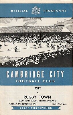 £3 • Buy Cambridge City V Rugby Town, 17 September 1963, Southern League
