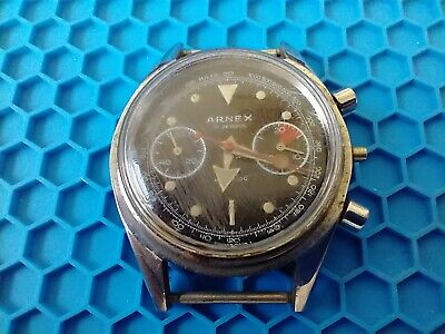 $ CDN967.36 • Buy Vintage J.P Pingouin/ Arnex Chronograph Wrist Watch, Missing Bezel, For Parts