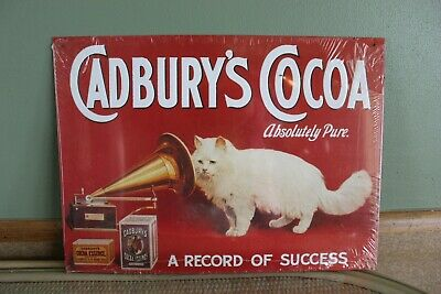 £60.34 • Buy New 1997 Tin Sign Cadburys Cocoa Gramophone Cat N33 Tin Sign 18 X 12  (E)