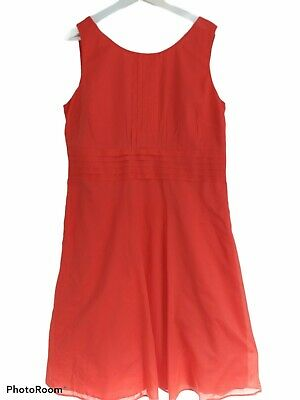 £20 • Buy MONSOON Maxi Dress Size 18 - Stunning Coral Colour 100% Cotton VGC Used  Wedding