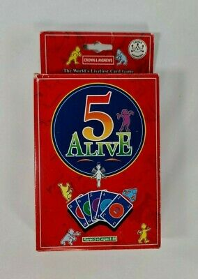 AU39.99 • Buy 1993 Vintage 5 Alive Card Game The Worlds Liveliest Card Game Crown & Andrews