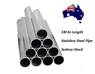 AU44 • Buy 3.5  Stainless Steel EXhaust Pipe 89mm Metal Tube 1M In Length 1.5mm Thickness