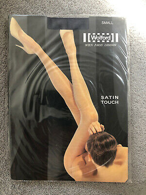 Wolford Satin Touch 20 Tights/Pantyhose (Jet) Black Size S Small BNIP • 10.99£